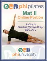 PHI Pilates Mat II Online Portion-