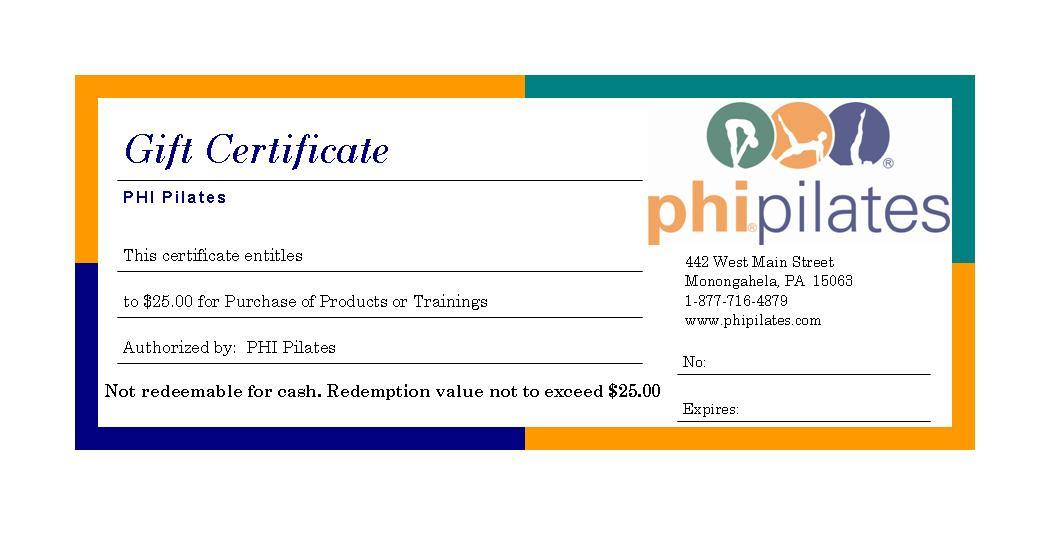 PHI Gift Certificates-