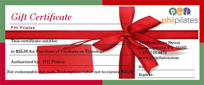 Holiday Gift Certificate-